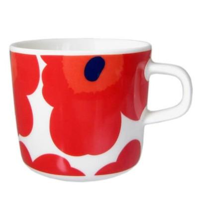 マリメッコ Marimekko コーヒーカップ 63429 001 UNIKKO ウニッコ レッド コップ 北欧ブランド