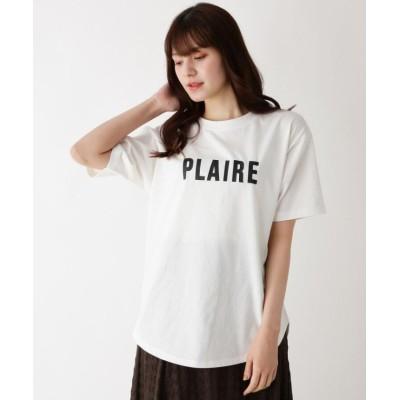 【ピンクアドベ】 アソートロゴプリントTシャツ レディース オフホワイト 38(M) pink adobe