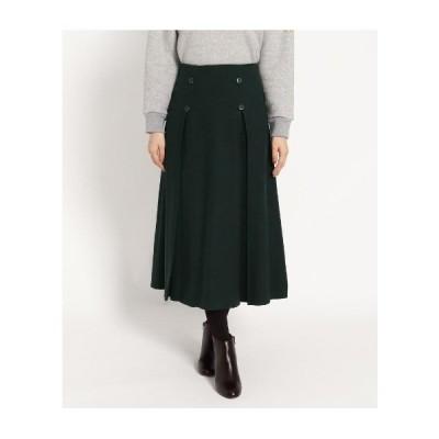 Dessin(Ladies)(デッサン(レディース))【XS〜Lサイズあり】サキソニーボタンボックスプリーツスカート