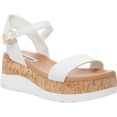 スティーブ マデン Steve Madden レディース サンダル・ミュール ウェッジソール シューズ・靴 Roselita Wedge Sandal White Leather
