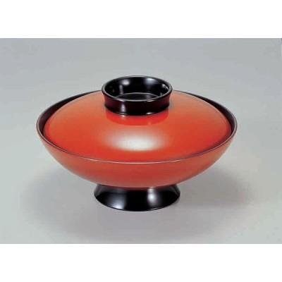 業務用漆器 6寸小槌煮物椀 朱    18.5φ×10.5cm  700cc