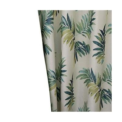 【良品しかない】ハワイアンリーフ柄遮光カーテンおしゃれな植物葉柄ドレープカーテン UVカット リビングや