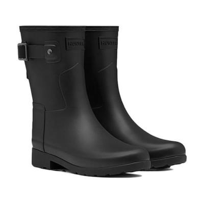 ハンター(HUNTER) オリジナル リファインド ショートブーツ ブラック WFS1098RMA レディース 長靴 雨具 レインシューズ 通勤通学