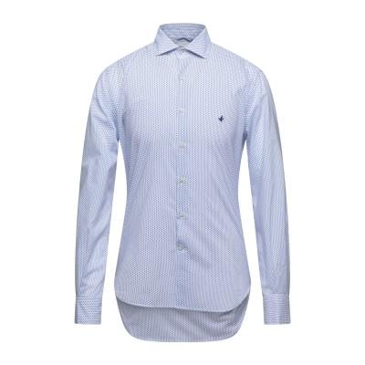 ブルックスフィールド BROOKSFIELD シャツ ダークブルー 45 コットン 100% シャツ
