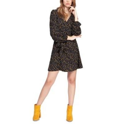 ブラック テープ レディース ワンピース トップス Floral-Print Wrap Dress Blk/marigold Floral