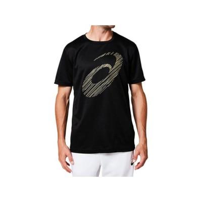 (アシックス)ビッグロゴショートスリーブトップバレーボール Tシャツ 2031A669001BKG