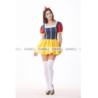 紺色白雪姫/ハロウィン衣装/コスプレ衣装/白雪姫/童話/ディズニー衣装/ワンピ/7688