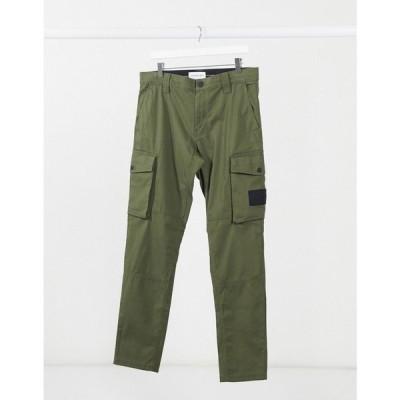 カルバンクライン Calvin Klein Jeans メンズ カーゴパンツ ボトムス・パンツ Skinny Washed Cargo Trousers In Khaki オリーブ