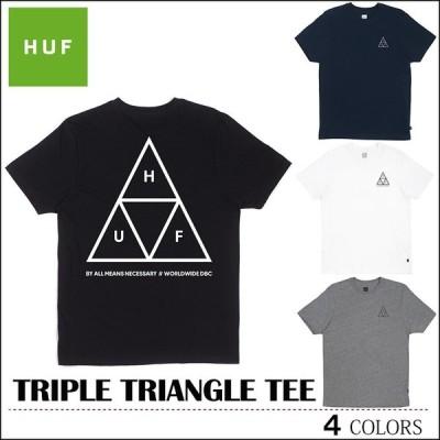 HUF ハフ Tシャツ ゆうパケット送料180円 TRIPLE TRIANGLE TEE ブラック ネイビー ホワイト グレー トップス スケート キース ハフナゲル
