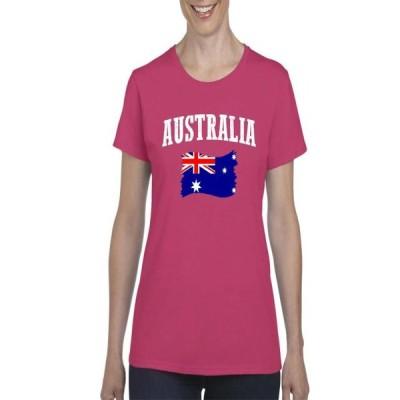 レディース 衣類 トップス Womens Australia Flag Short Sleeve T-Shirt Tシャツ