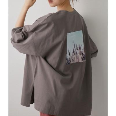 ビス ViS 【WEB限定】バックフォトロングTシャツ (グレー系(09))