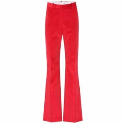 ヴィクトリア ベッカム Victoria Beckham レディース ボトムス・パンツ high-rise corduroy flared pants Red