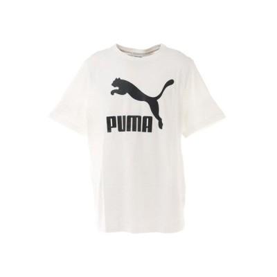 プーマ(PUMA) CLASSICS ロゴ Tシャツ 530088 02 WHT (メンズ)