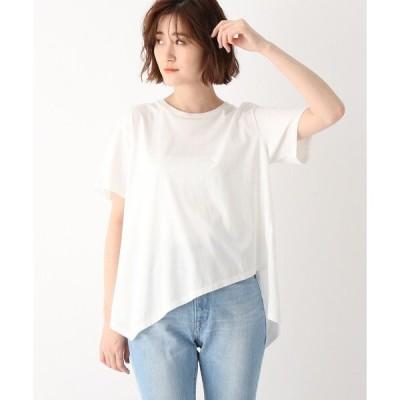 tシャツ Tシャツ ●【ウォッシャブル】コットンイレギュラーヘムデザインTシャツ
