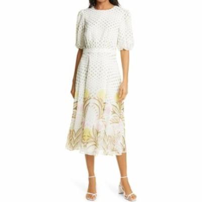 テッドベーカー TED BAKER LONDON レディース ワンピース ワンピース・ドレス Joulia Print Fit and Flare Dress Cream