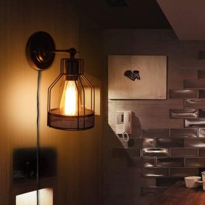 Ameelie ブラケットライト 壁掛け灯 玄関ライト ウォールランプ コンセント式 玄関照明 レトロ 壁掛け照明 インテリア照明 アンティーク 壁