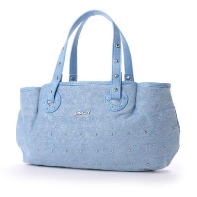 サボイ SAVOY シンプルなデニム地のバッグ (ブルー)