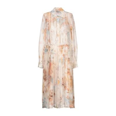 ANGELO MARANI 7分丈ワンピース・ドレス ベージュ 40 シルク 54% / ウール 46% 7分丈ワンピース・ドレス
