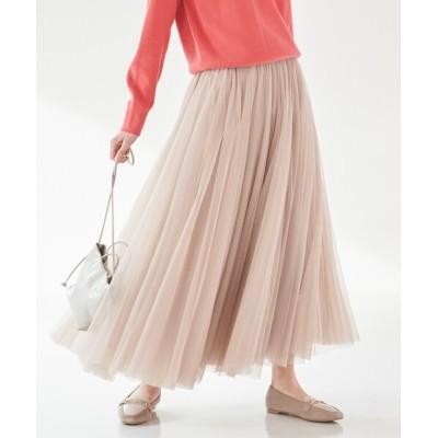 grove / 【S-LL】チュールボリュームロングスカート WOMEN スカート > スカート