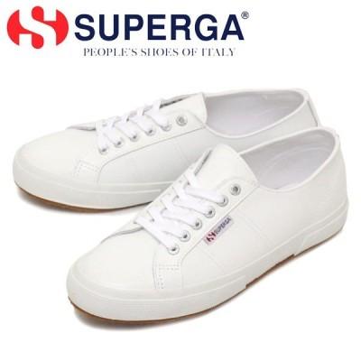 SUPERGA (スペルガ) S8115BW 2750-NAPLNGCOT U レザースニーカー 900 WHITE SPG031