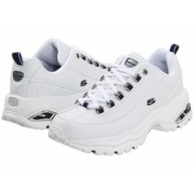 SKECHERS スケッチャーズ レディース 女性用 シューズ 靴 スニーカー 運動靴 Premiums White Smooth Leather/Navy Trim【送料無料】