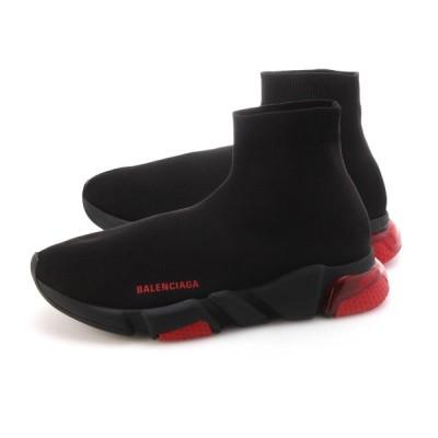 バレンシアガ BALENCIAGA スニーカー SPEED CLEARSOLE SNEAKER 大きいサイズあり ブラック メンズ 607544-w05gh-1061