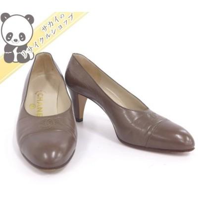 CHANEL パンプス ココマーク レディース ベージュ レザー 表記サイズ:36 【Ladies】【Shoes】