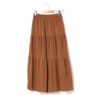 スカート 綿楊柳ティアード/スカート