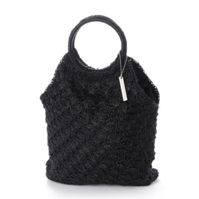 ミアン MIAN かぎ編みトートバッグ (ブラック)