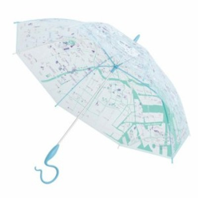 サエラ caetla EVEREON エバーイオン ビニール傘 MAP TOKYO BLUE  EV819-3 【北海道・沖縄・離島配送不可】