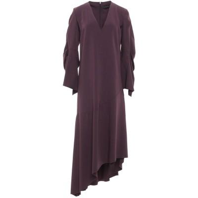 フェデリカ・トシ FEDERICA TOSI 7分丈ワンピース・ドレス ディープパープル 40 レーヨン 60% / ウール 38% / ポリウレタ