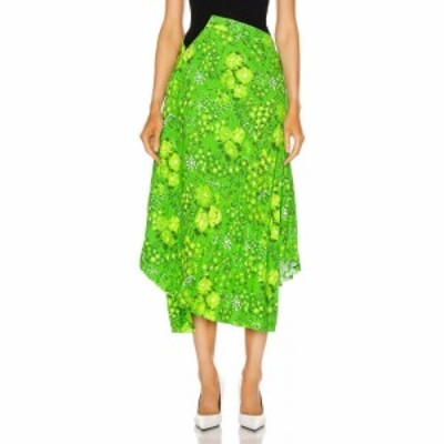 バレンシアガ Balenciaga レディース ひざ丈スカート スカート twisted pleat skirt Green