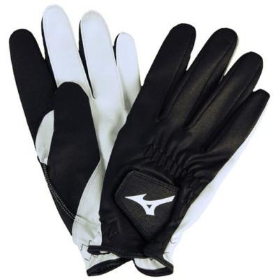 ミズノ メンズ ジョッキー手袋[ユニセックス] 90 ブラック×ホワイト 20 その他スポーツ 馬術(乗馬) 33JY9U10
