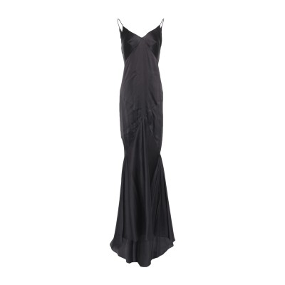 ARK Paris ロングワンピース&ドレス ブラック 42 レーヨン 100% ロングワンピース&ドレス