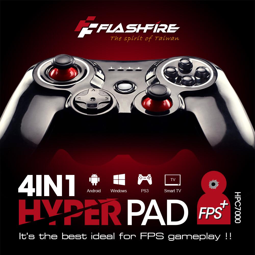 富雷迅flashfire 4in1 hyper pad 迅雷火有線射擊遊戲手把 電腦手把 pc手把