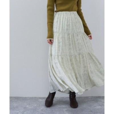 スカート ランダムドットティアードスカート