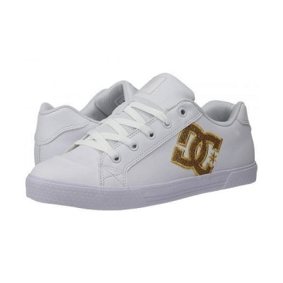 DC ディーシー レディース 女性用 シューズ 靴 スニーカー 運動靴 Chelsea SE W - White/Gold