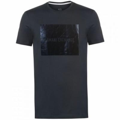 アルマーニ Armani Exchange メンズ Tシャツ トップス Armani Block T Shirt Navy