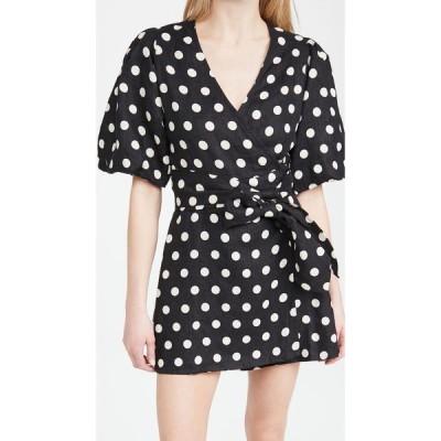 フェイスフルザブランド FAITHFULL THE BRAND レディース ワンピース ラップドレス ワンピース・ドレス Godiva Wrap Dress Emelda Dot Print - Black