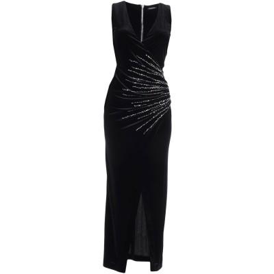 バルマン BALMAIN ロングワンピース&ドレス ブラック 36 ポリエステル 92% / ポリウレタン 8% / ガラス / ポリウレタン ロン