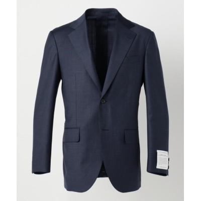 【J.プレス メンズ】 マイクロチェック スーツジャケット メンズ ネイビー系8 A6 J.PRESS MENS