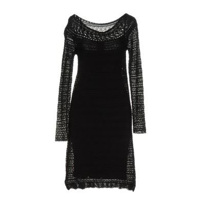 リュー ジョー LIU •JO ミニワンピース&ドレス ブラック 40 100% コットン ミニワンピース&ドレス