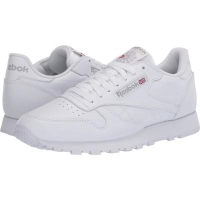 リーボック Reebok Lifestyle メンズ スニーカー シューズ・靴 Classic Leather White/White/Light Grey