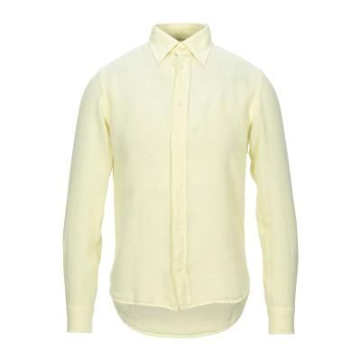 HARDY CROBB'S シャツ ライトイエロー XS リネン 100% シャツ
