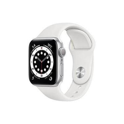 最新 Apple Watch Series 6(GPSモデル)- 40mmシルバーアルミニウムケースとホワイトスポーツバンド