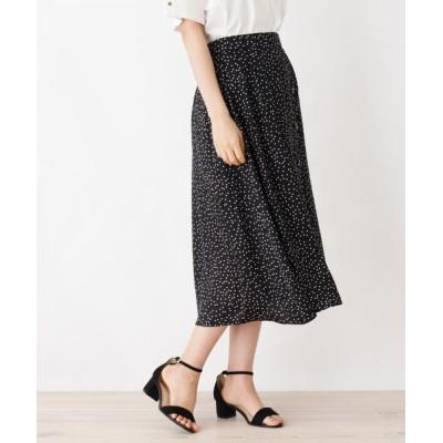 OPAQUE.CLIP / 【洗濯機洗いOK】サテンドット ラップ風フレアスカート WOMEN スカート > スカート