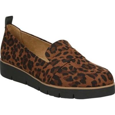 ドクター ショール Dr. Scholl's レディース ローファー・オックスフォード シューズ・靴 webster slip-on loafer Brown/Black Leopard Microfiber