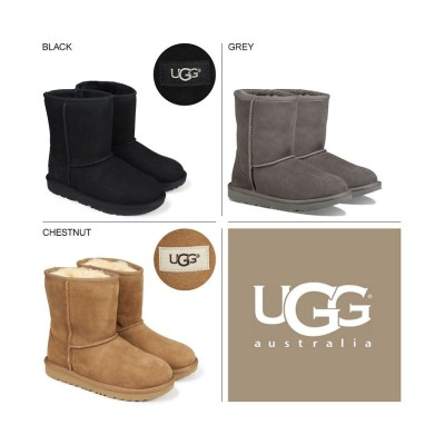 (UGG/アグ)UGG アグ ムートン ブーツ クラシック 2 CLASSIC II 1017703K レディース キッズ/レディース ブラック