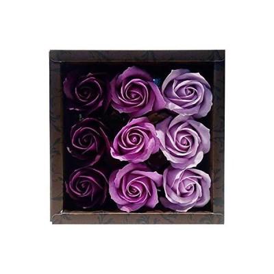 九州フラワーサービス お花のカタチの入浴剤 ローズフレグランス 9輪入り ローズL 753183