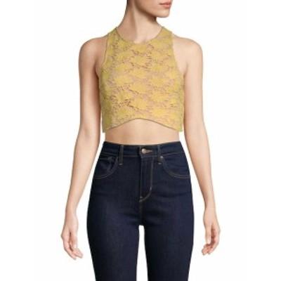 エンドレスローズ レディース トップス シャツ Floral Lace Cropped Top